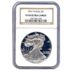 Certified Proof Silver Eagle PF69 1997