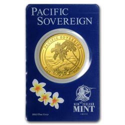 009 1 oz Gold Fiji $100 Pacific Sovereign .9999 (In Ass