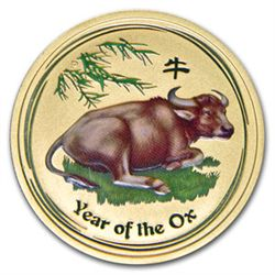 2009 1/2 oz Gold Lunar Year of the Ox (Series 2) (Color