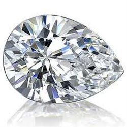 EGL CERT 0.58 CTW PEAR CUT DIAMOND G/VVS2