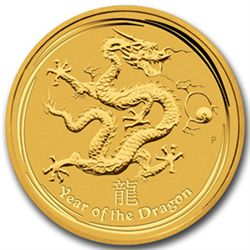 2012 1/10 oz Gold Lunar Year of the Dragon (Series 2)