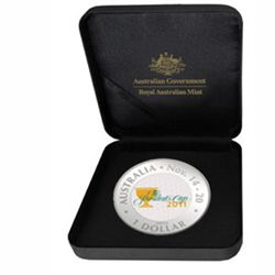 2011 1 oz Proof Silver Presidents Cup Coin