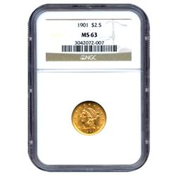 Certified US Gold $2.5 Liberty MS63