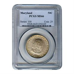 Certified Commemorative Half Dollar Maryland MS66 PCGS