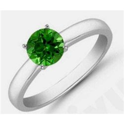 Tourmaline 1.55 ctw Solitaire Ring 14kt W/Y  Gold