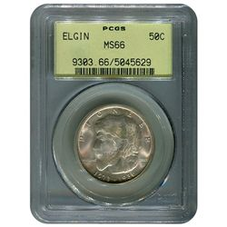 Certified Commemorative Half Dollar Elgin MS66 PCGS