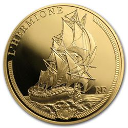 2012 50 Euro 1/4 oz Gold Proof Great French Ships - The