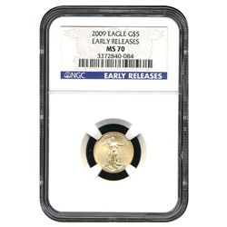 Certified American $5 Gold Eagle 2009 MS70 NGC