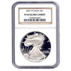Certified Proof Silver Eagle PF69 2007