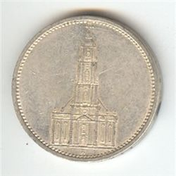 Germany 5 reichsmark, 1934-1935, Potsdam Church (KM83)