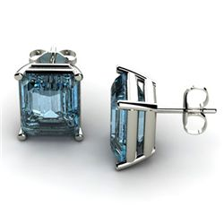 Genuine 6.80 ctw Topaz Earring 14k W/Y Gold