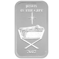 Christmas 2012 Silver Bar X-7 Baby Manger