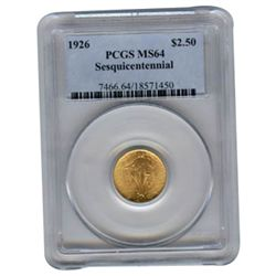 Certified $2.5 Gold Commemorative 1926 Sesquicentennial