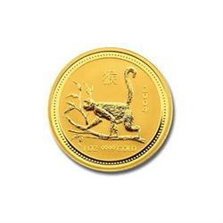 Australian Lunar Gold Quarter Ounce Gold 2004 Monkey