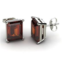 Genuine 18.00 ctw Garnet Earring 14k W/Y Gold