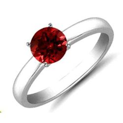 Ruby 1.05 ctw Solitaire Ring 14kt W/Y  Gold