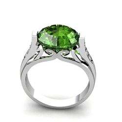 Genuine 5.34 ctw Tourmaline Ring 14k W/Y Gold