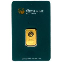Gold Bars: Perth Mint 5 Gram Gold Bar