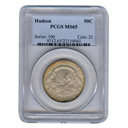 Certified Early Commemorative 1935 Hudson MS65 PCGS