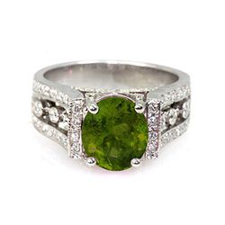 Genuine 3.54 ctw Tourmaline Ring 14Kt White/Yellow Gold