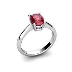Genuine 1.40 ctw Garnet Ring 14k W/Y Gold