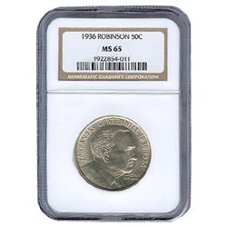 Certified Commemorative Half Dollar Robinson 1936 MS65
