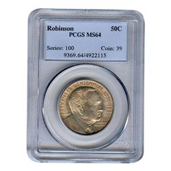 Certified Commemorative Half Dollar Robinson MS64 PCGS