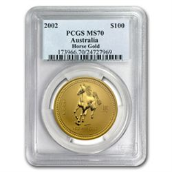 2002 1 oz Gold Year of the Horse Lunar Coin (Series 1)