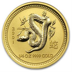 2001 1/4 oz Gold Year of the Snake Lunar Coin (Series 1