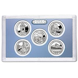 US Proof Set Statehood Quarters Without Box 2010