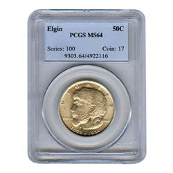 Certified Commemorative Half Dollar Elgin MS64 PCGS