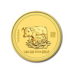 2007 1/20 oz Gold Year of the Pig Lunar Coin (Series 1)