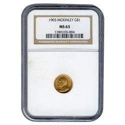 Certified $1 Gold Commemorative McKinley 1910 XF40 NGC