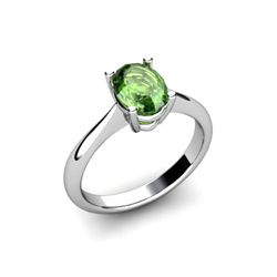 Genuine 2.30 ctw Green Tourmaline Ring 14k W/Y Gold