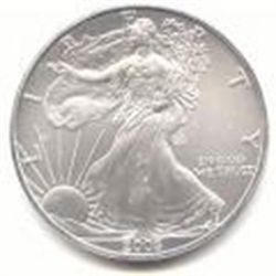Uncirculated Silver Eagle 2005