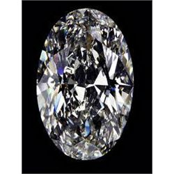 EGL CERT 0.59 CTW OVAL DIAMOND F/SI1