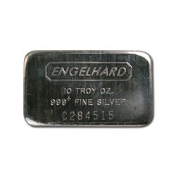 Silver Bars: Engelhard 10 oz Bar (Wide, Struck, Logo Ba