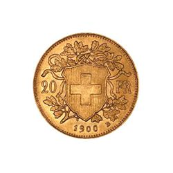 Swiss 20 Franc Gold Coin