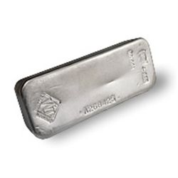 Silver Bars: Johnson Matthey 100 oz Bar .999 fine