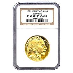 Certified Proof Buffalo Gold Coin 2006-W PF70 Ultra Cam