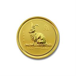Australian Lunar Gold Quarter Ounce Gold 1999 Rabbit