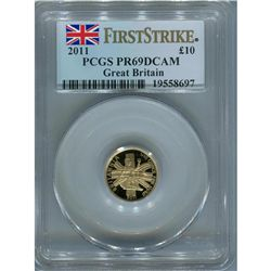 Great Britain 1/10 oz. gold Britannia, PF69 First Strik