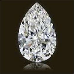 EGL CERT 0.58 CTW PEAR SHAPED DIAMOND D/SI2
