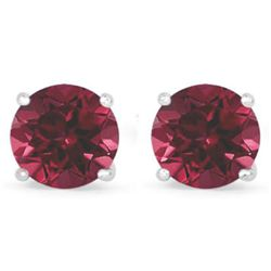Genuine 2.82 ctw Ruby Stud Earring 14k 0.92g