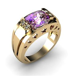 Genuine 2.95 ctw Amethyst Ring 14k 4g, RS 7