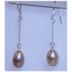 13.15 CTW PEACH PERAL DANGLING EARRINGS