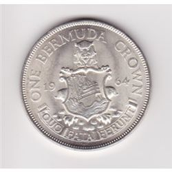 1964 Bermuda silver crown