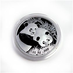Chinese Silver Panda One Ounce 2012 - Singapore Interna
