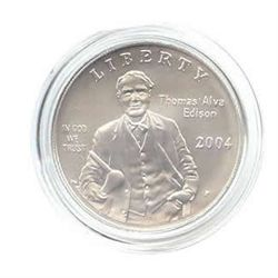 US Commemorative Dollar Uncirculated 2004-P Thomas Edis