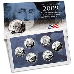 US Proof Set 2009 6pc (Quarters Only)
